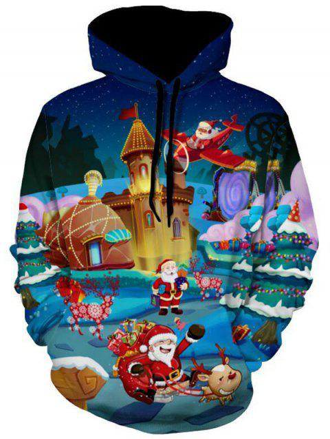 Santa Clause 3D Print Christmas Hoodie - COLORMIX 2XL