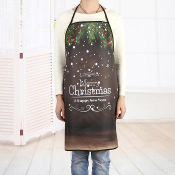 Merry Christmas Letter Print Waterproof Polyester Apron - DUN DUN