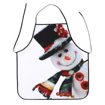 Christmas Snowman Printed Waterproof Polyester Apron - COLORMIX COLORMIX