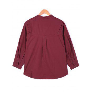 One Pocket Wide Waist Shirt - RED RED