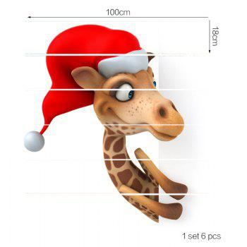 Cartoon Christmas Deer Baubles Pattern Stair Stickers - COLORFUL COLORFUL