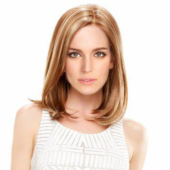 Medium Colormix Side Parting Straight Bob Synthetic Wig - GOLDEN GOLDEN