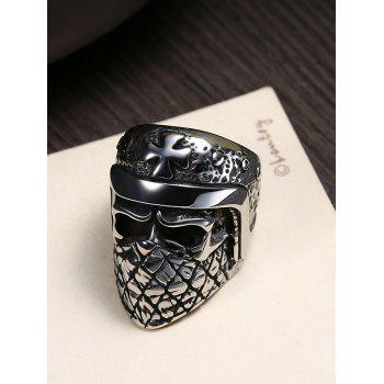 Gothic Style Titanium Steel Ring with Casted Skull Carved - SILVER 8