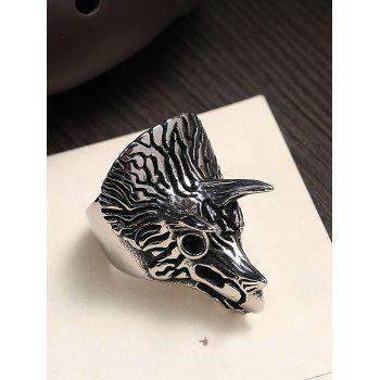 Triceratops Carving Gothic Style Titanium Steel Ring - BLACK 10