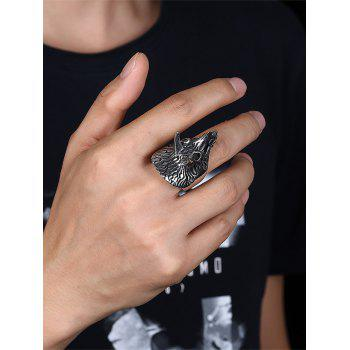 Triceratops Carving Gothic Style Titanium Steel Ring - BLACK 11