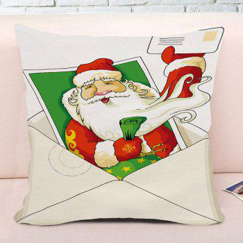 Santa Claus Creative Envelope Printed Christmas Square Pillow Case - COLORMIX W18 INCH * L18 INCH