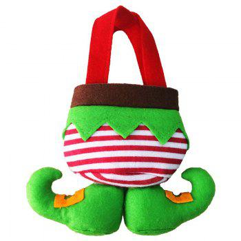 Christmas Elf Body Candy Tote Gift Bags 3Pcs - GREEN