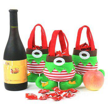 Christmas Elf Body Candy Tote Gift Bags 3Pcs - GREEN GREEN