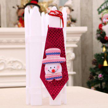 Christmas Hanging Decorations LED Lights Necktie - RED RED