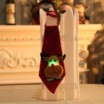Christmas Hanging Decorations LED Lights Necktie - BROWN