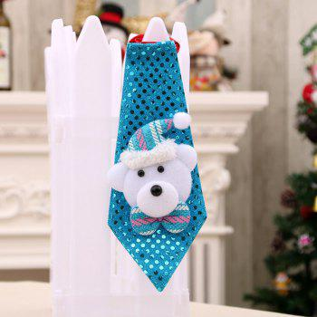 Christmas Hanging Decorations LED Lights Necktie - BLUE BLUE