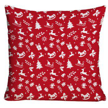Christmas Elements Printed Decorative Throw Pillow Case - RED RED