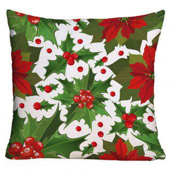 Mistletoe Printed Decorative Throw Pillowcase - COLORMIX COLORMIX