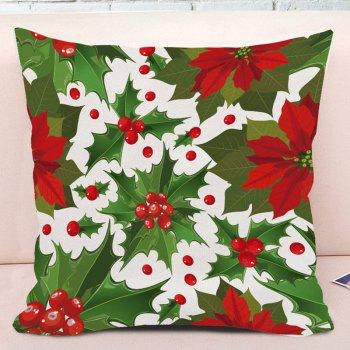 Mistletoe Printed Decorative Throw Pillowcase - COLORMIX W18 INCH * L18 INCH