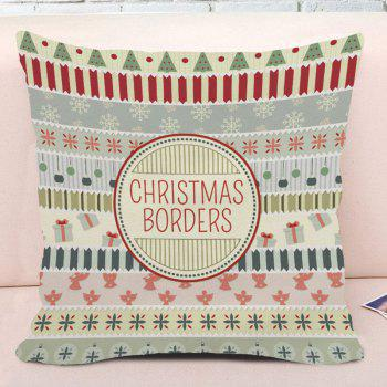 Christmas Elements Pattern Decorative Square Pillow Case - COLORMIX W18 INCH * L18 INCH
