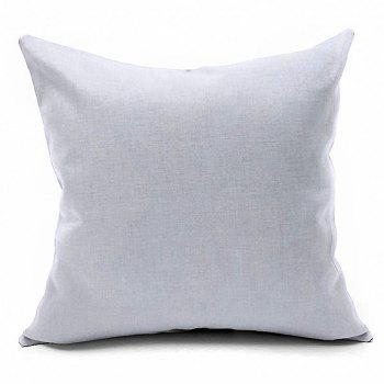 Christmas Wreath Printed Square Decorative Pillow Case - OFF WHITE W18 INCH * L18 INCH