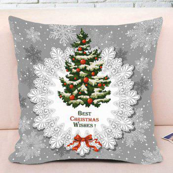 Christmas Tree Pattern Square Decorative Throw Pillow Case - GRAY W18 INCH * L18 INCH