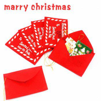 Christmas Fabric Envelope Bags 10Pcs -  RED