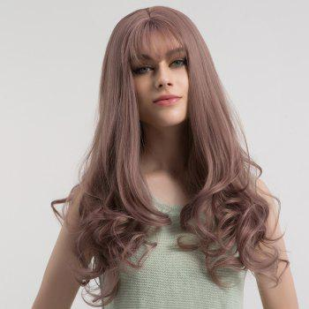 Long See-through Fringe Fluffy Curly Synthetic Wig -  LIGHT PURPLE