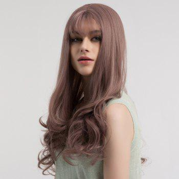 Long See-through Fringe Fluffy Curly Synthetic Wig - LIGHT PURPLE LIGHT PURPLE