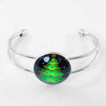 Christmas Printing Round Cuff Bracelet - PATTERN A