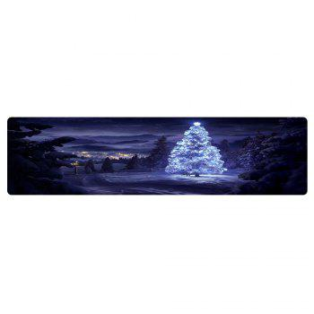 Christmas Night Pine Pattern Indoor Outdoor Area Rug - COLORMIX W24 INCH * L71 INCH
