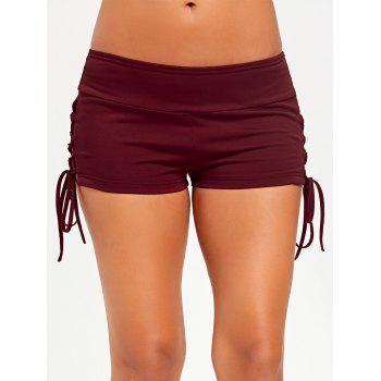 Lace Up Micro Shorts - LATERITE M