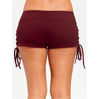 Lace Up Micro Shorts - LATERITE XL