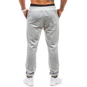 Graphic Geometric Print Jogger Pants - LIGHT GRAY LIGHT GRAY