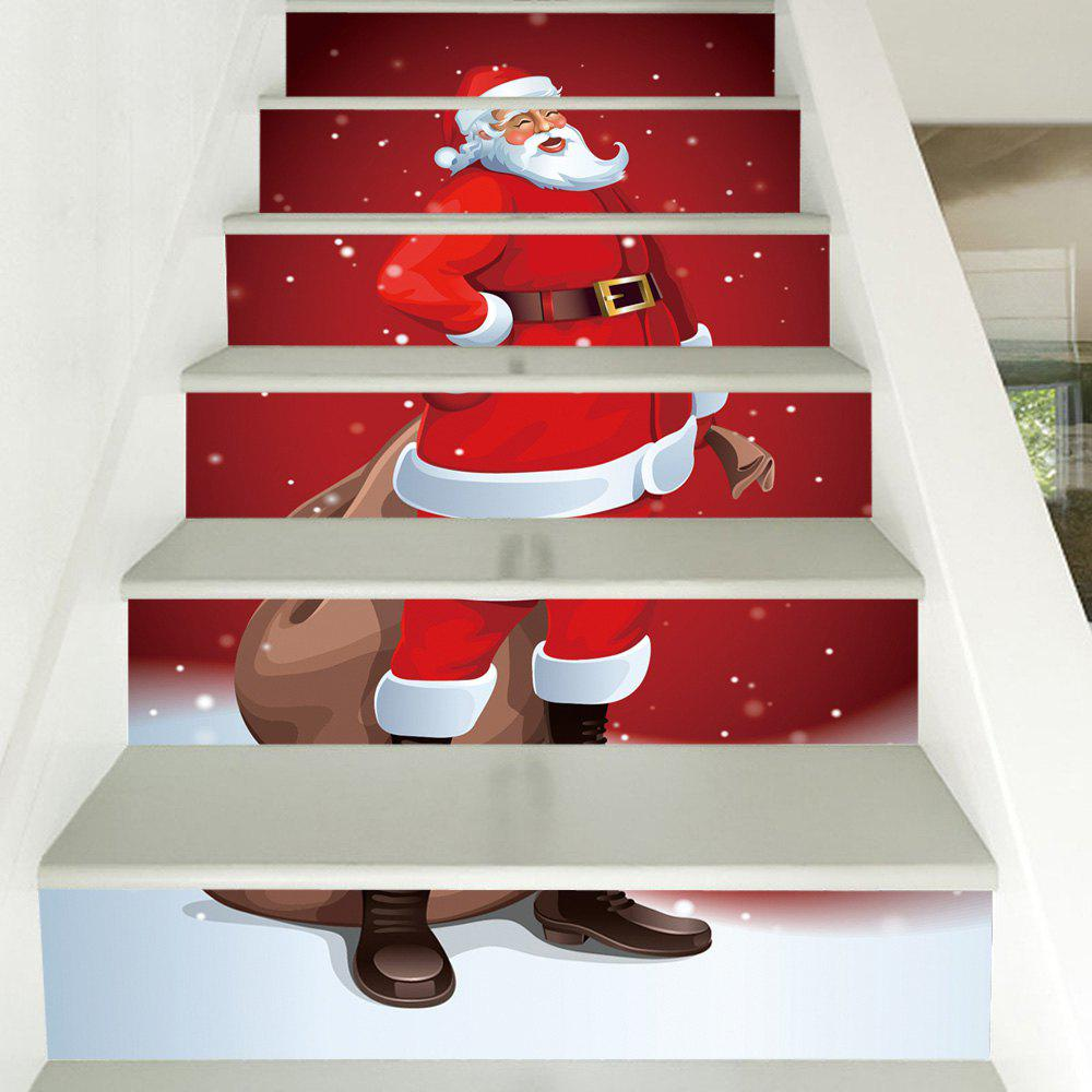 1893 Best Christmas On The Stairs Images On Pinterest: 2018 Christmas Santa Claus Pattern Stair Stickers RED CM