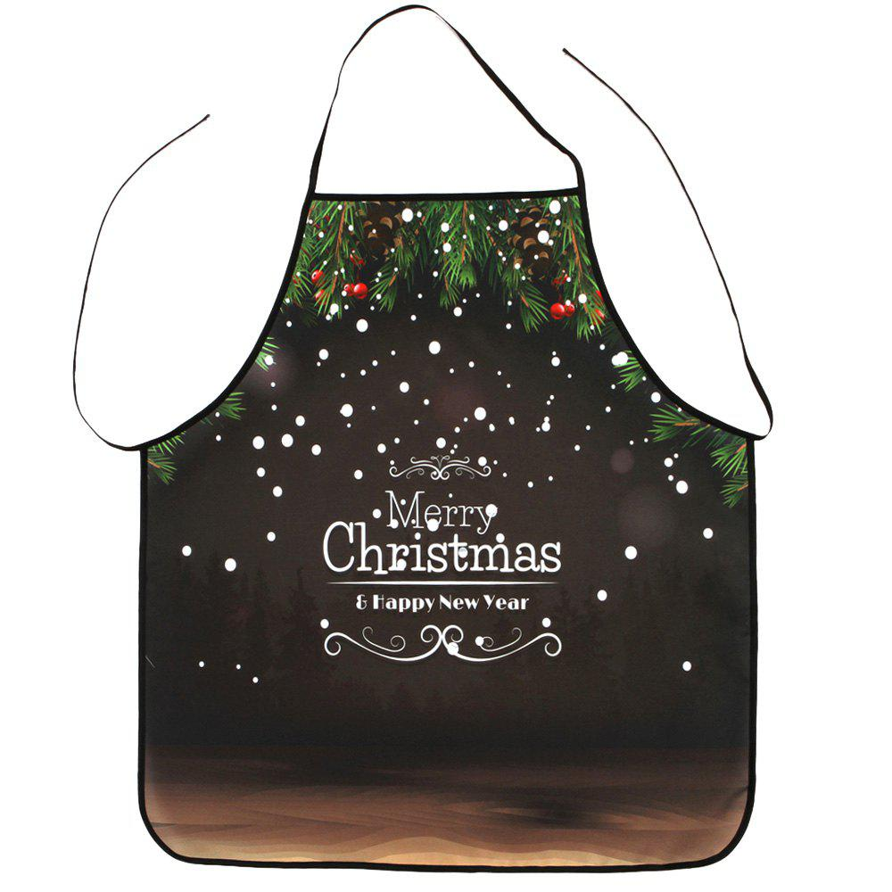 Merry Christmas Letter Print Waterproof Polyester Apron statin pharmacogenetics in metabolic syndrome