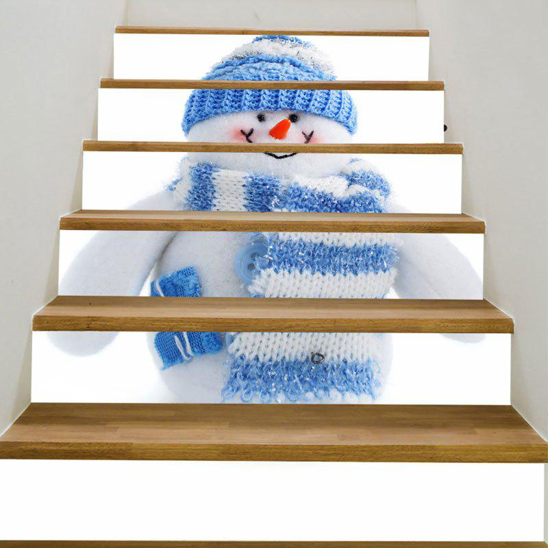 The Scarf Snowman Pattern Decorative Stair Stickers nesbo j the snowman