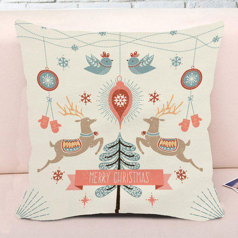 Merry Christmas Graphic Decorative Square Pillow Case - COLORMIX W18 INCH * L18 INCH