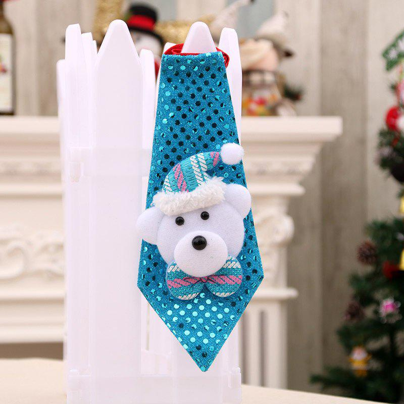 Christmas Hanging Decorations LED Lights Necktie - BLUE