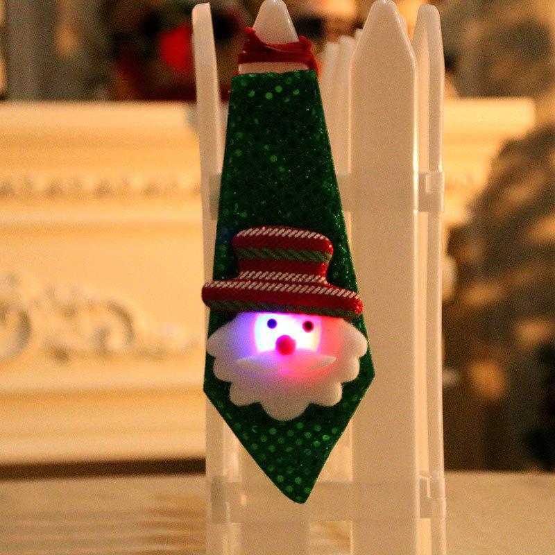 Christmas Hanging Decorations LED Lights Necktie - GREEN