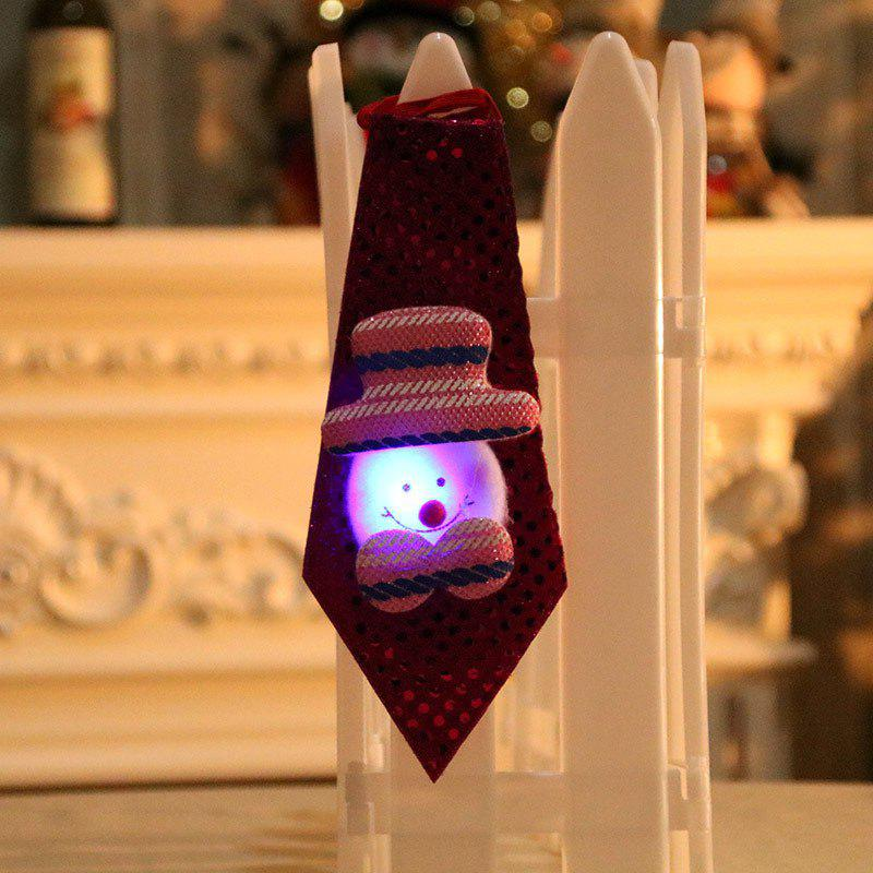 Christmas Hanging Decorations LED Lights Necktie - RED