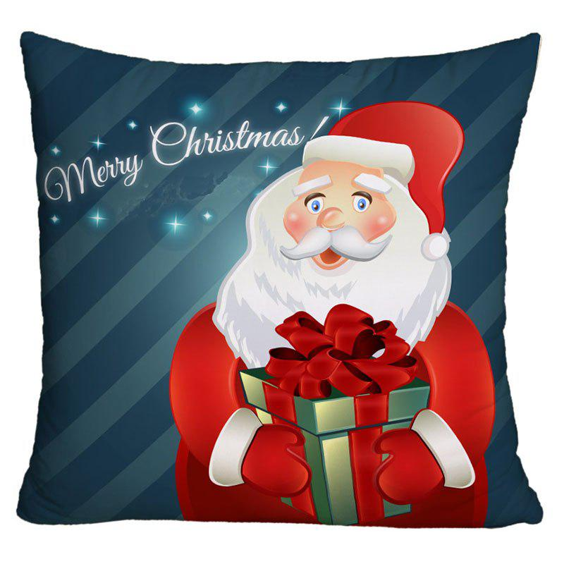 Santa Claus Christmas Gift Printed Decorative Pillow Case santa claus elk cart snowflakes printed pillow case
