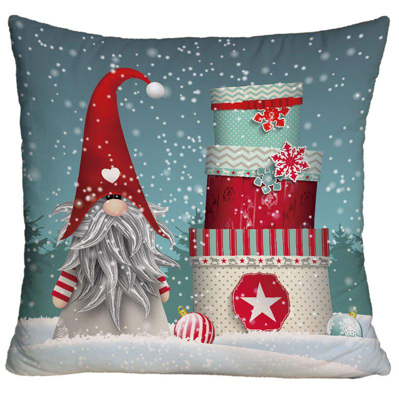 Ugly Santa Claus Christmas Gift Print Decorative Square Pillow Case - COLORMIX W18 INCH * L18 INCH