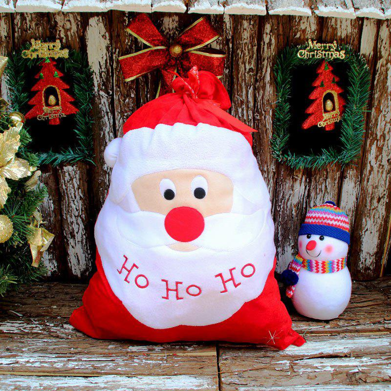 2 Pieces Santa Claus Christmas Candy Gift Bags - RED