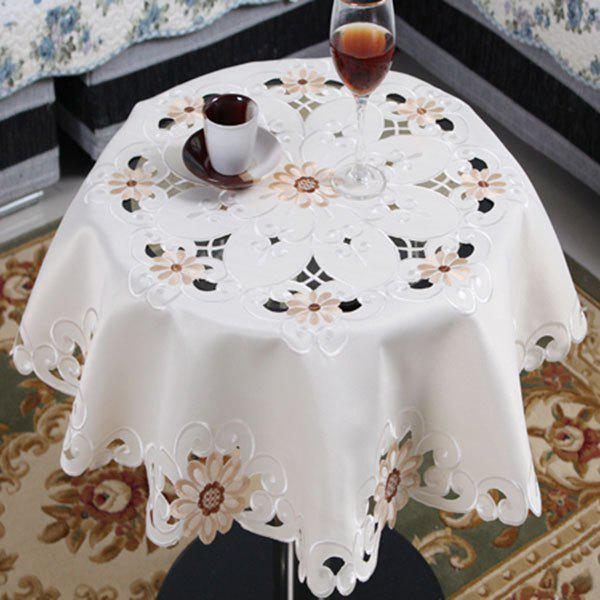 Embroidered Satin Kitchen Round Table Cloth 100 foolproof suppers my kitchen table