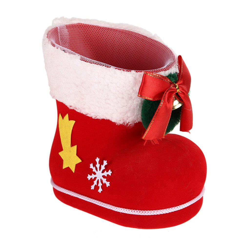 Different Size Christmas Shoes Gift Boxes 3Pcs - RED