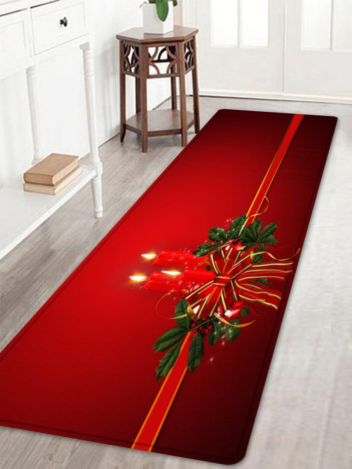 цены Christmas Bowknot Candle Pattern Indoor Outdoor Area Rug