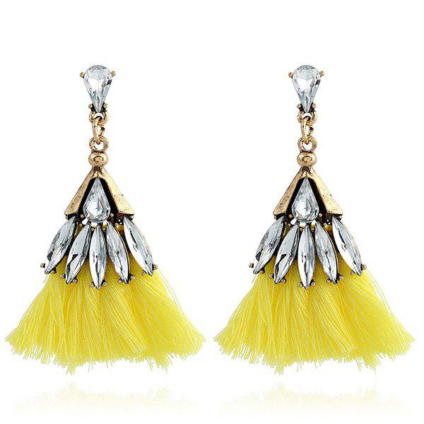 Faux Jewelry Tassel Stud Drop Earrings faux opal geometric earrings