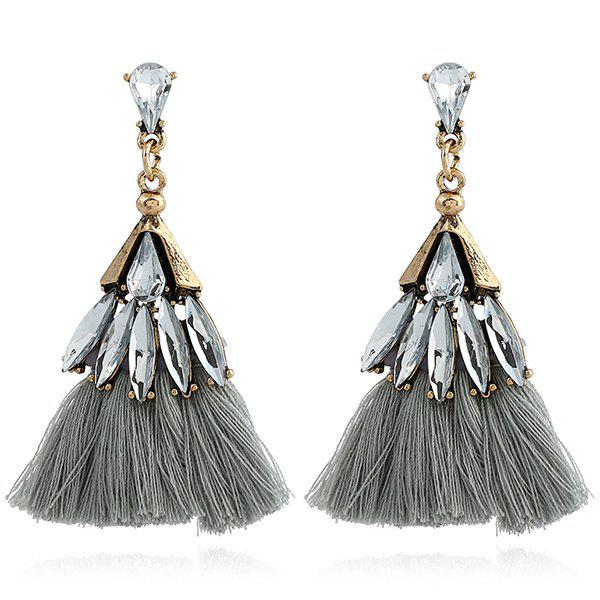 Faux Jewelry Tassel Stud Drop Earrings - GRAY