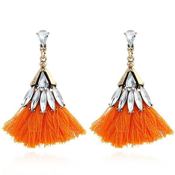Faux Jewelry Tassel Stud Drop Earrings - JACINTH