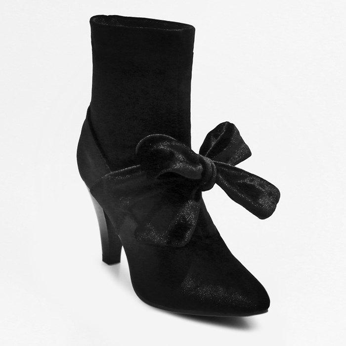 Pointed Toe Cone Heel Bow Boots discount codes shopping online footaction cheap online 2015 new for sale cheap discounts pictures cheap price NinLKB