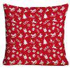 Christmas Elements Printed Decorative Throw Pillow Case - RED W18 INCH * L18 INCH