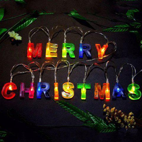 Led Merry Christmas Letters Shape Decorations String Lights Colorful