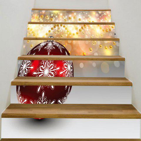 Baubles Pattern Removable Stair Stickers - COLORFUL 100*18CM*6PCS