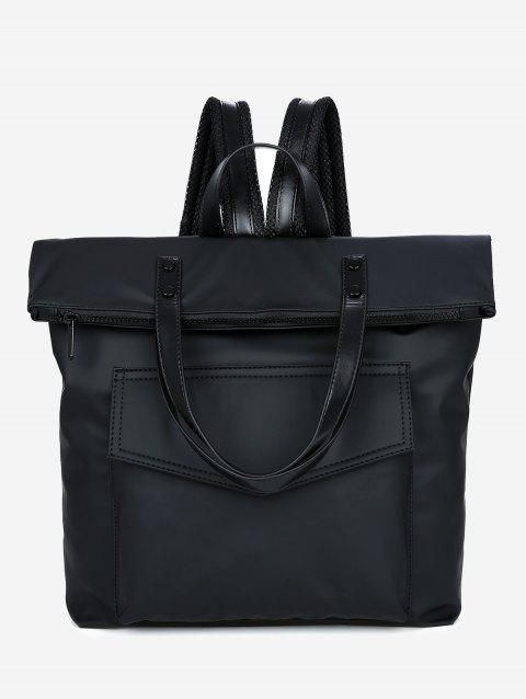 Multi Function Stitching Backpack - BLACK
